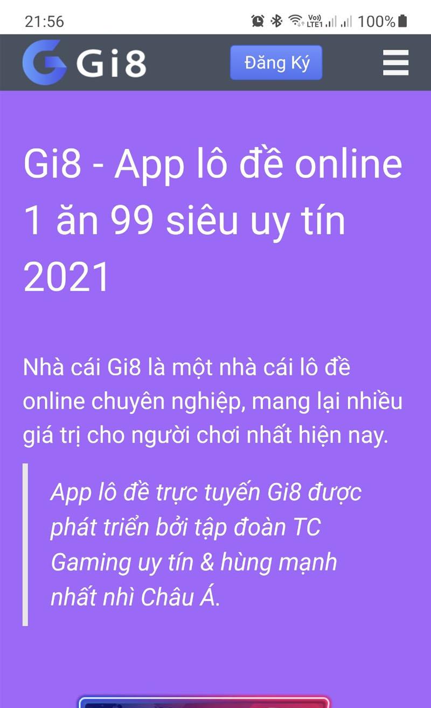 Trang chủ Gi8 trên điện thoại